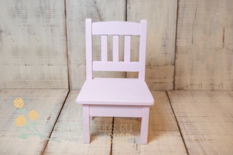Little wooden chair - plain colour