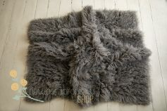 Flokati 100% wool - natural grey