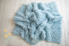 Authentic flokati rug 100% wool whisper blue EXCLUSIVE 2000GR