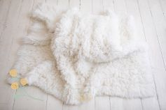Flokati 100% wool - snow white EXCLUSIVE 2000gr