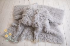 Authentic flokati rug 100% wool light grey EXCLUSIVE 2000GR