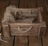 Distressed crate with rope handles