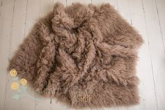 Flokati 100% wool - charcoal brown