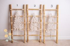 Bamboo ladder with a Christmas decor