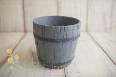 Resin tiny bucket - antique replica - dark grey