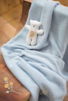 Basic knit Bean Bag fabric light blue
