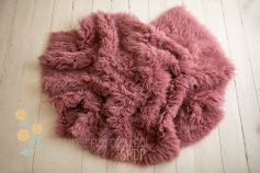 Authentic flokati rug 100% wool pastel mauve EXCLUSIVE 2000GR