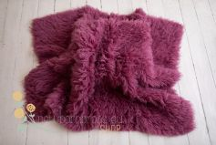Flokati 100% wool - amaranth EXCLUSIVE 2000GR