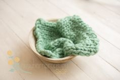 Thick wool blankets - mint