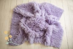 Authentic flokati rug 100% wool pastel lilac EXCLUSIVE 2000GR