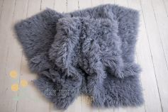 Authentic flokati rug 100% wool solid grey EXCLUSIVE 2000GR