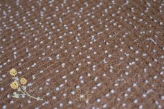 Bean Bag beads fabric cacao